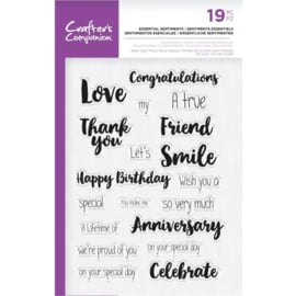 Crafter's Companion A5  clearstamp - Essential Sentiments
