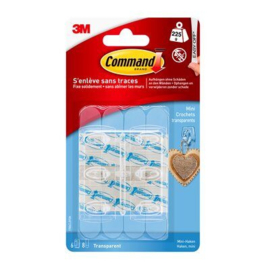 Command™ Transparante minihaken met transparante strips