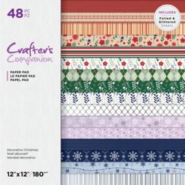 "Crafter's Companion 12""x12"" (30x30 cm) paperpad - Decoratieve Kerst"