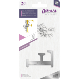 Gemini Metalen folie stempel & Clearstamp - Expressions - Letter F