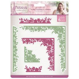Sara Signature Collection Parisian Metalen snijmal - Floral Borders & Corners