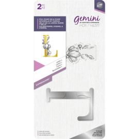 Gemini Metalen folie stempel & Clearstamp - Expressions - Letter L