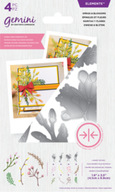 Gemini Elements - Dubbelzijdige snijmal - Sprigs & Blossoms
