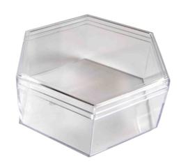 Transparant diamantdoosje