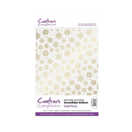 Crafter's Companion Snowflake Vellum Gold Pack A4