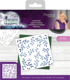 Enchanted Christmas - Stencil - Forest Vines