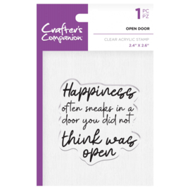 Crafter's Companion Clear stempel - Open Door