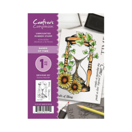 Crafter's Companion A6 unmounted rubberen stempel - Sands of Time
