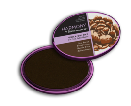 Spectrum Noir Inktkussen - Harmony Quick Dry - Seal Brown (Zeehonden bruin)