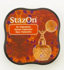 StazOn midi solvent dye ink 5,8x5,8cm St. Valentine