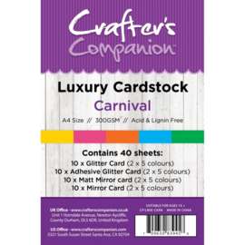 Crafter's Companion Luxury Cardstock Carnival A4