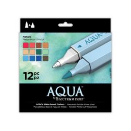 Spectrum Noir Aqua Markers 12 Pen Sets - Natuur