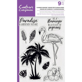 CC - Clearstamp - Flamingo Paradise