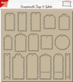 Polybesa Scrap stencil - Noor - Tags and Labels
