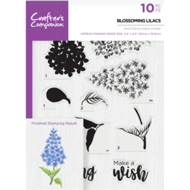 Crafter's Companion A5  clearstamp - Blossoming Lilacs