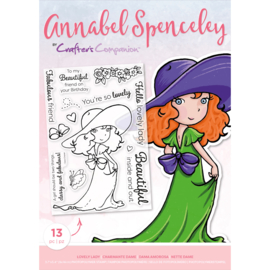 Annabel Spenceley Clearstamp - Lovely Lady