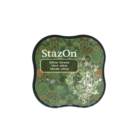 StazOn midi solvent dye ink 5,8x5,8cm Olive Green