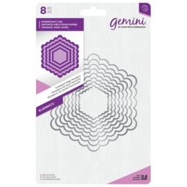 Gemini Elements - Scalloped Edge Hexagon (Geschulpte rand zeshoek)
