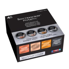 Spectrum Noir Metallic Vloeibare Inkt 30ml - Vintage Metallics 4 stuks