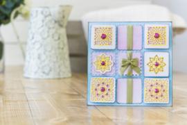 Gemini Create-a-Card - Doily Patchwork