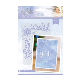 "Glittering Snowflakes 5""x7"" Embossing Folder - Touch of Winter"