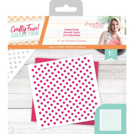 Crafty Fun - Stencil - Going Dotty