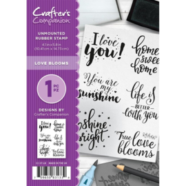 Crafter's Companion A6 unmounted rubberen stempel - Love Blooms