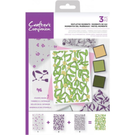 Crafter's Companion Background Layering Clearstamps - Mistletoe Moments