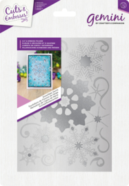 Gemini 5x7 Cut and Emboss folder - Kerst - Snowflake Swirls
