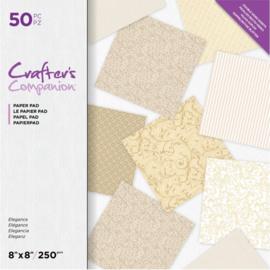 Crafter's Companion 8x8 (20x20 cm) Dubbelzijdig - Ellegance