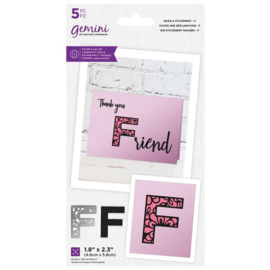 Gemini Make A Statement Snijmal&stempel set - F