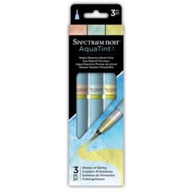 Spectrum Noir Aquatints 3 Pen Sets - Shades of Spring