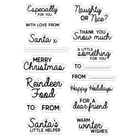 CC Kerst Clearstamp - A Little Something For You