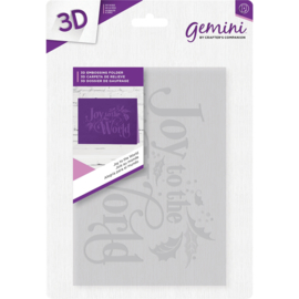 "Gemini 5""x7"" cm 3D-embossingfolder - Joy to the World"