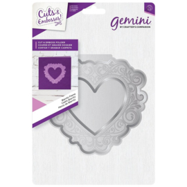 Gemini Shaped Cut and Emboss Folder - Biarritz Frame