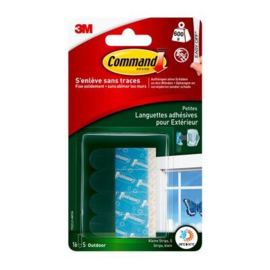 Command™ Transparante kleef- en navulstrips voor buiten-klein