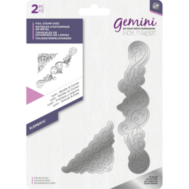 Gemini Folie Stamp mal - Elementen - Lyon Rand & Hoek