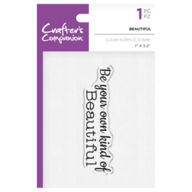 Crafter's Companion Clear stempel - Beautiful