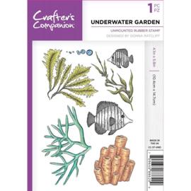 Crafter's Companion A6 unmounted rubberen stempel -Underwater Garden