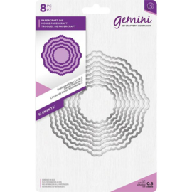 Gemini Elements - Scalloped Edge Circle 2 (Geschulpte rand cirkel 2)