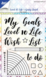 Clearstamp - Dayenne - Level 10 Life& Goals Chart