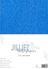 Jilliez A4 Glitterpapier Blauw