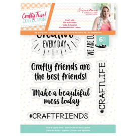 Crafty Fun - A6 Clearstamp - Craft Life