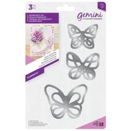Gemini Snijmal Floral Foam - Elements - Dainty Butterflies (Sierlijke vlinders)