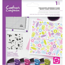 Crafter's Companion Background Rotation Clearstamps - Buds And Blooms