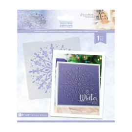 "Glittering Snowflakes 6""x6"" Embossing Folder - Frosted Elegance"