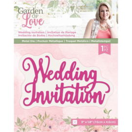 Garden of Love - Metalen snijmal - Wedding Invitation