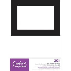 "CC 5""x7"" Voorgestanste Basiskaart&Envelop - Rechthoekig Diafragma"