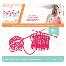 Crafty Fun - Metalen snijmal - Knit & Natter