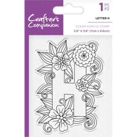 Crafter's Companion Clear stempel alfabet letter H